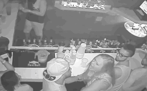 Surveillance footage shows the punch that led to Florida State QB De'Andre Johnson's arrest. http://t.co/R2HKyls42x http://t.co/FI7yxeP9GW