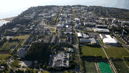 Did you know the #UBC Vancouver campus is 400 hectares large, surrounded by forest on 3 sides and ocean on the 4th? http://t.co/4GUO9gpu3r