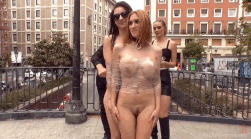 Brutal Dommes, @MonaWalesXXX & @JulietteMarch mindfuck their subs on @Public_Disgrace http://t.co/xJKxkCpxZx
