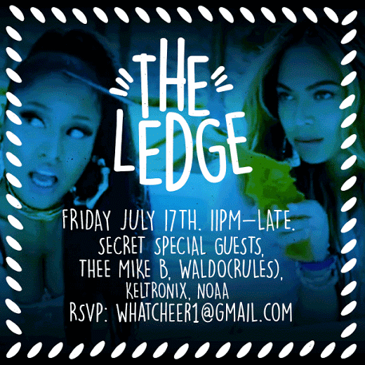 The Ledge 2nite 11pm-Late.  @theemikeb @keltronix + secret guests. Find the U-Haul at 1744 Industrial Way 90023 http://t.co/iejMcCUaAq