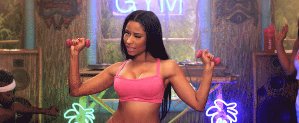 Congrats, @NickiMinaj on your Best Hip-Hop Video #VMA nomination! Let's work out to it! http://t.co/Ya6yJZgUfN http://t.co/wpuVDNUedq