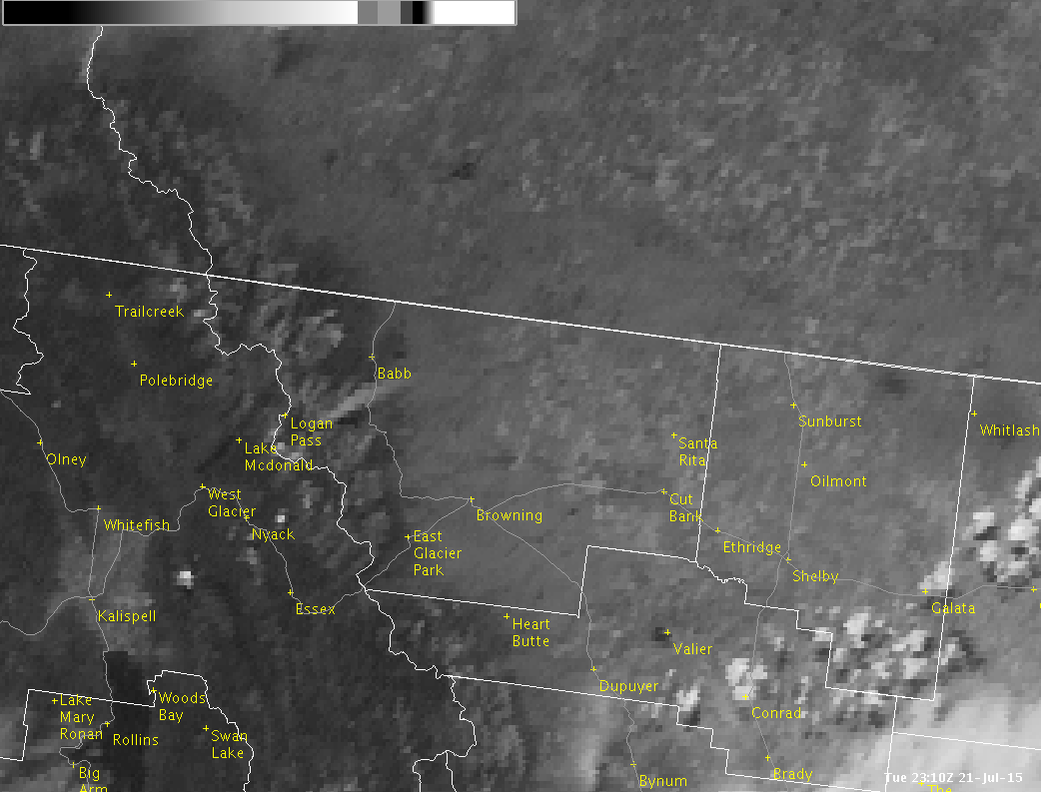 Smoke plume from Reynolds Creek fire in Glacier National Park as seen on visible satellite imagery this eve. #mtwx