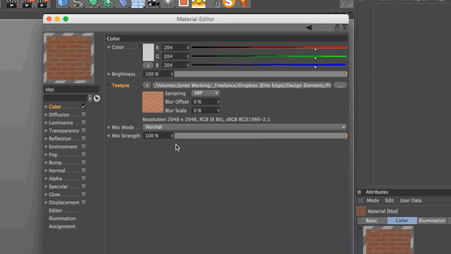 Quick #Cinema4D tip: Make a Normal Map out of any image by using the built in Normalizer: http://t.co/4gWKSXparZ