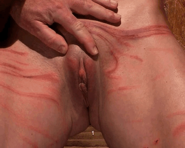 Slapping pumped pussy
