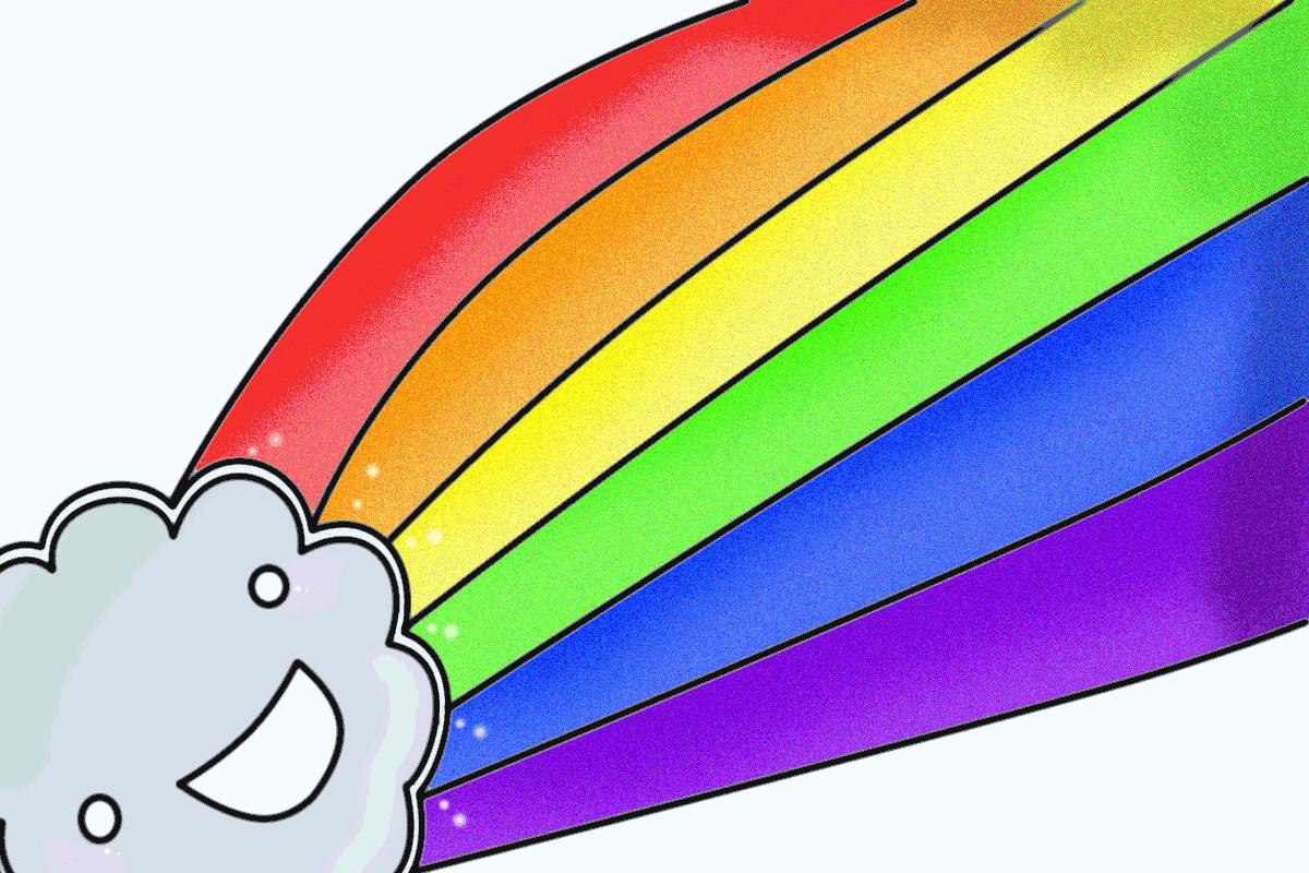 Анимация радуга картинки, женские картинки надписями