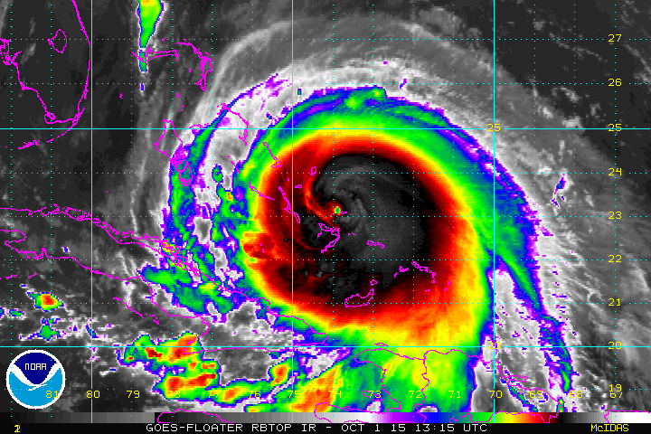 #Joaquin remains a dangerous Cat. 4 storm. Additional strengthening possible later:https://t.co/JlkOcHtqbe  https://t.co/vGTHEyb7gh