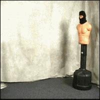 Footage of Josh Scobee practicing karate in the garage