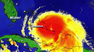 GIF: Here is the current projected path of Hurricane #Joaquin right now; projected to miss U.S. - @Ginger_Zee http://t.co/ov5BgGwsQD
