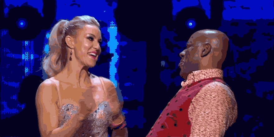 Giving us a celebratory Salsa shimmy it's #AinsleyHarriott and the lovely @RealNatalieLowe #Strictly http://t.co/49I2Wm6Rhy