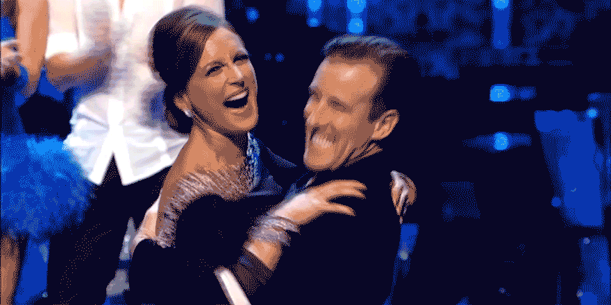 Calm down @TheAntonDuBeke we know you're happy with @thekatiederham, but this is only week 2 of #Strictly http://t.co/yQAheqFHP2