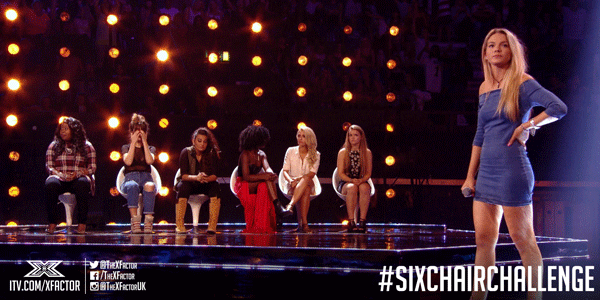 Louisa Johnson takes Chloe Baker's seat. This is only the beginning. #SixChairChallenge http://t.co/U0HpzIwYqN