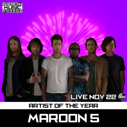 RT @TheAMAs: .@maroon5, YES PLEASE! Congrats on being nominated for #AMAs ARTIST OF THE YEAR! 😘 http://t.co/PjZ3cG2xcn
