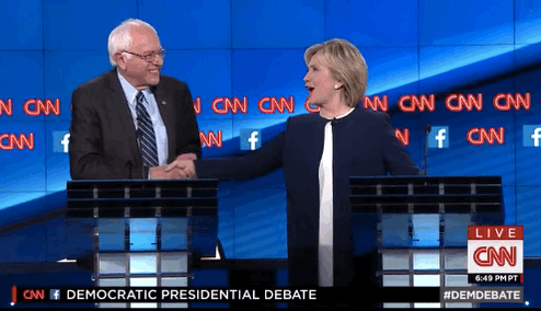 """""""The American people are sick of hearing about your damn emails!"""" -@BernieSanders to @HillaryClinton #DemDebate http://t.co/CNGfGtn2aG"""