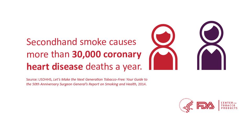 Exposure to secondhand smoke can increase the risk for a heart attack or stroke. http://t.co/if6DHoEojr