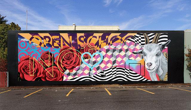 @INSALAND X @OpenSchoolNW. #INSA #GIFITI #AugmentedReality #Graffiti #AnimatedStreetArt: https://t.co/XhAPaEPRRR https://t.co/1sdYXEfM30