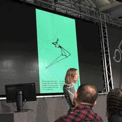 Wow! @polyluna blew our minds sharing interactive tech+art projects portraying balance b/w rules & freedom. #span15 https://t.co/ULNxQFNQlk