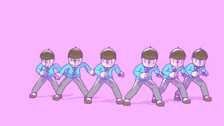 Mixamoでおそ松さんスリラーダンス。 レンダリングはC4DのSketch&Toon。 流行り物には乗っかるスタイル https://t.co/WwWJCzeKUN