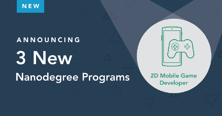 Announcing 3 New Nanodegree Programs! https://t.co/IqzXNSlw6E #DemocratizeEducation #StudentsFirst #BeInDemand https://t.co/ZP8kpYaooG