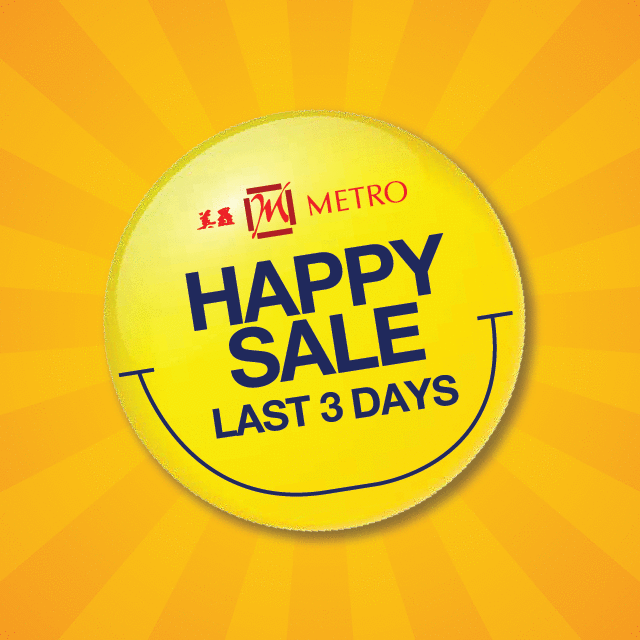 From Health Supplements to Household, Apparel to Kids', the Happy Sale has it all! Check our FB pg for more info.
