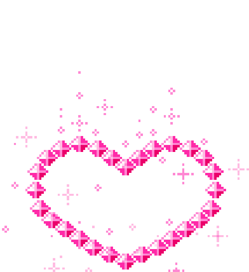 Гифка сердца на прозрачном