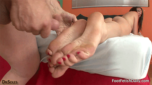 Forced to smell and lick her dirty sweaty toes