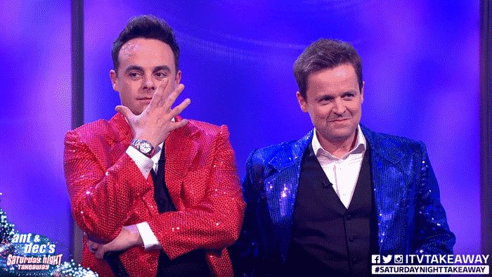 Huge congrats to our favourite duo @antanddec for their Saturday Night Takeaway #BAFTATV win 🥂 @itvtakeaway https://t.co/ehibcbTwe5