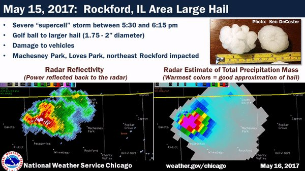Rockford Weather Map.Nws Chicago On Twitter Yesterday Saw Large Hail In Near The