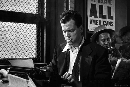 """RT @OnePerfectShot """"A film is never really good unless the camera is an eye in the head of a poet."""" Happy birthday, Orson Welles."""