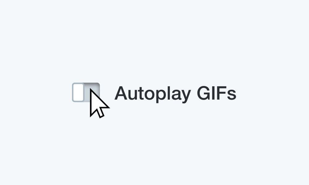 3/ We also added the ability to control whether GIFs auto-play or not! Click the ⚙️ icon and flip the switch in settings ✨