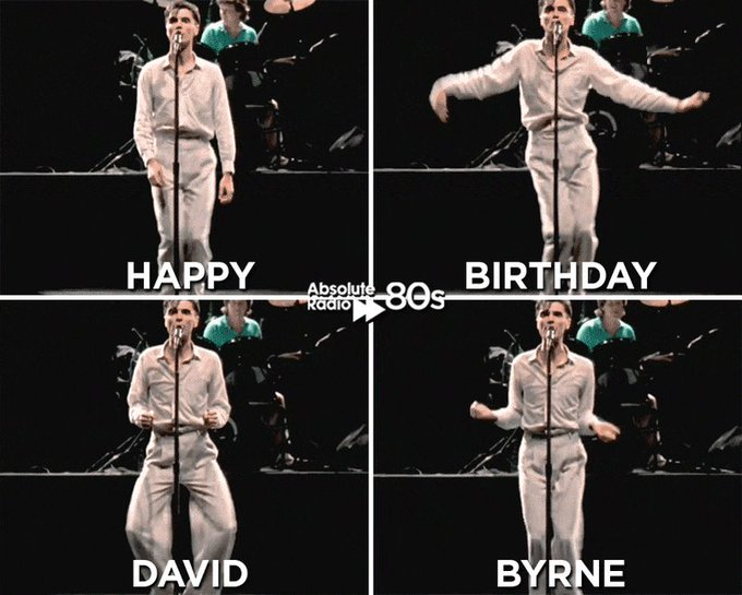 It\s only once in a lifetime you turn 65! A massive happy birthday to David Byrne