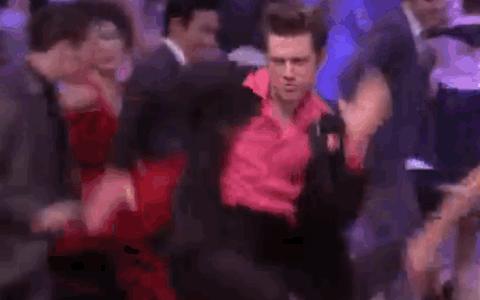 Actual @AaronTveit dancing speed. @GoGrease https://t.co/pee78fO98G