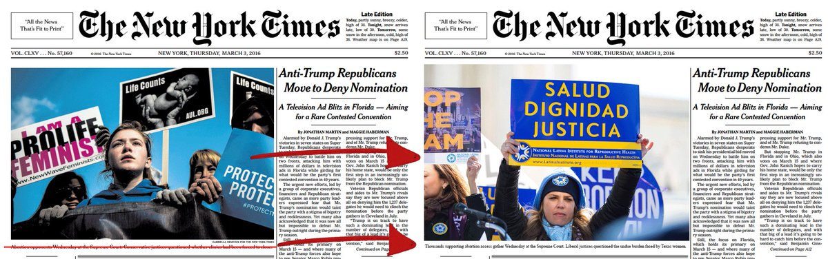 .@nytimes hey, we fixed your cover for you! #StopTheSham #WeWereThere #BastaElEngano https://t.co/epM2NfEjvk