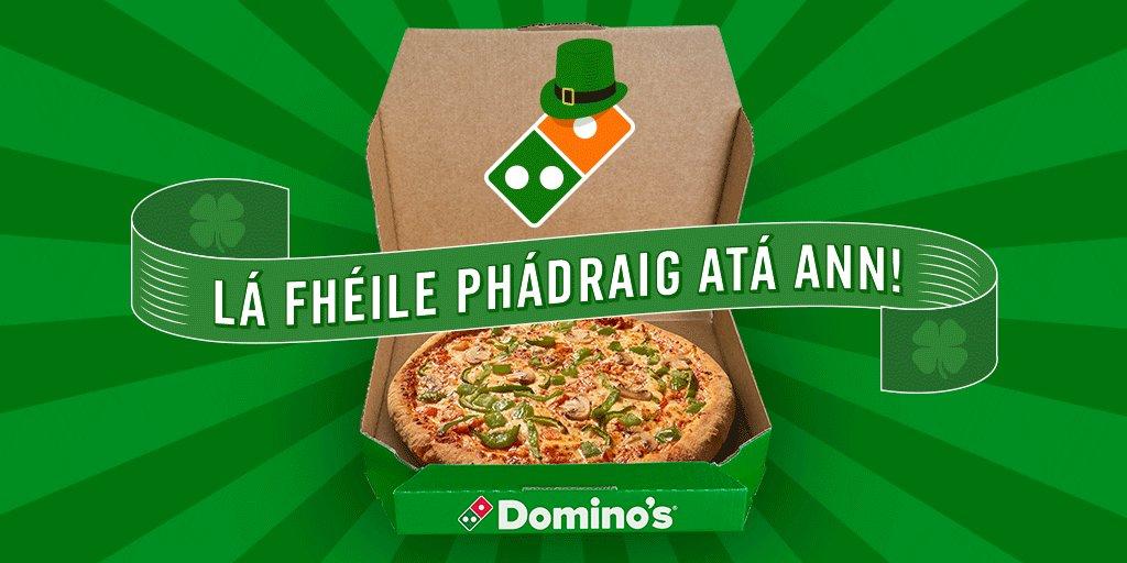 #LáLePádraig atá ann! Tuít féinin ag caitheamh an dath glas don deis chun pizza a bhuachaint! https://t.co/PUXsDmHESh