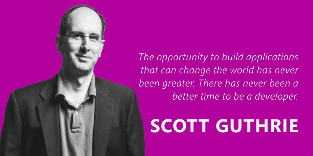 .@ScottGu on why there has never been a better time to be a developer: https://t.co/m8OsFV8S90 #Build2016 https://t.co/cUi0adaTNd