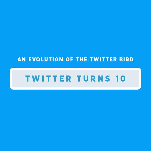 Veja a evolução do passarinho do Twitter ao longo dos 10 anos de nossa história! #LoveTwitter https://t.co/S6J1egbA63