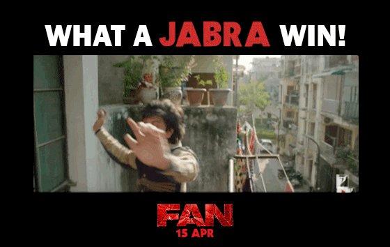 RT @FanTheFilm: Team India ka FAN ho gaya! Semi-finals, here we come! #JabraFan #IndvsAus #WT20 https://t.co/BoFBGNJhxT