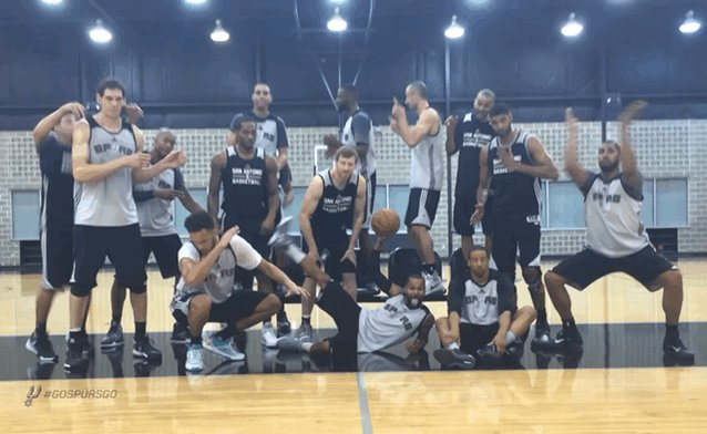 All 15 Spurs in this beautiful dancing GIF, ranked