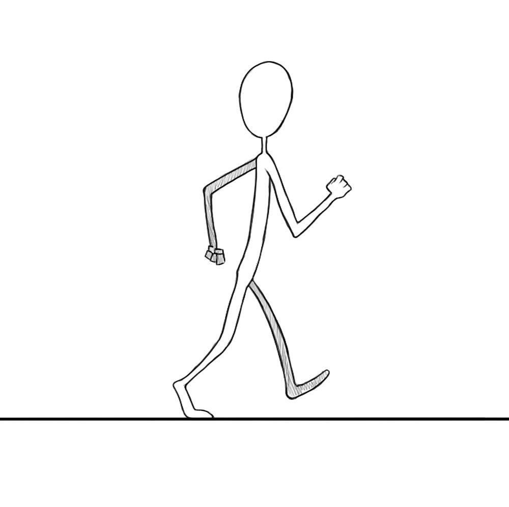 Летию, картинки для анимации ходьбы человека