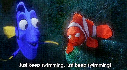 The week is halfway over, keep your head up and just keep swimming! #W...