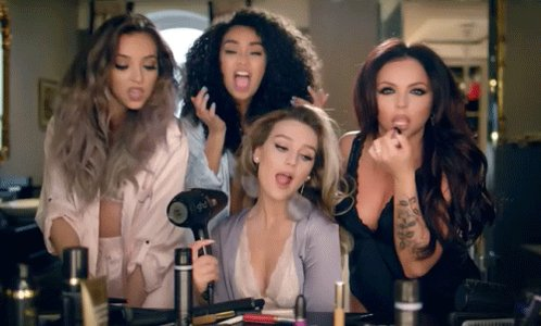 Best cure for a broken heart? Singing @LittleMix Hair into your styler. Get that man outta your hair! #LittleMix https://t.co/Ac0zKWIyCk