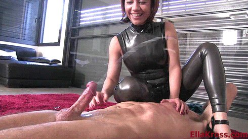 Femdom semen extraction