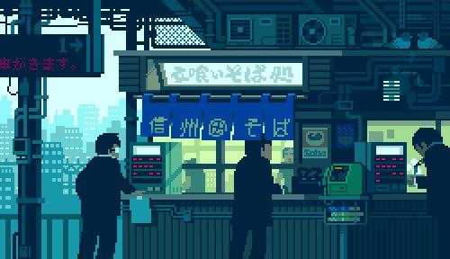 Love these 8bit animated gifs of Japanese life. https://t.co/Jr0mANloI9 cc @mari18 @dens https://t.co/fMqTE2kv7w