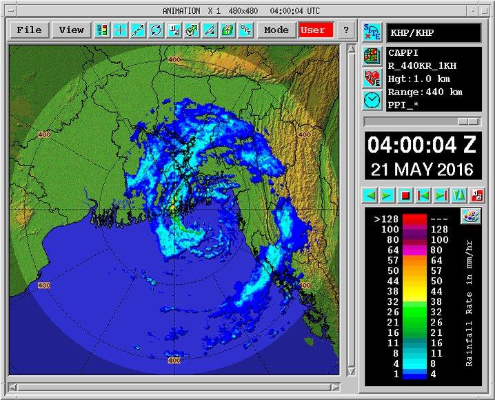 "#Roanu - Bangladesh RADAR shows that ""landfall is happening"" #iwm .. https://t.co/LvARy3iOIF"