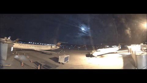 Holy fireball! @BTVAirport cameras captured this video of a huge meteor this morning https://t.co/V6x9PY5pHM #btv https://t.co/f78A5q9Faa