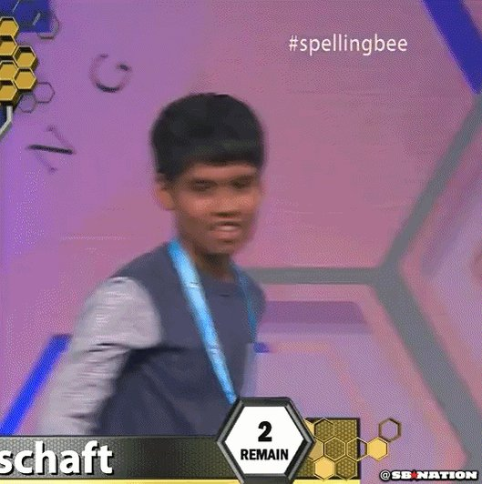 So....Much....Swag at the #SpellingBee. https://t.co/O7azk1F6RC