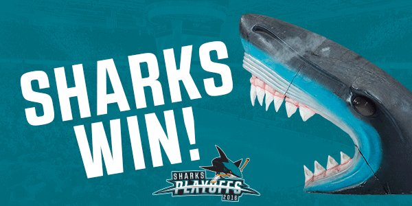 #SJSHARKS WIN THEIR FIRST #STANLEYCUP FINAL GAME IN OVERTIME! https://t.co/8eTFArx8sR