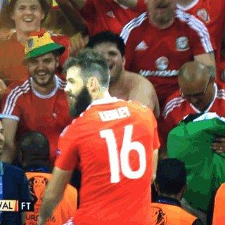 Joe Ledley just won the euros. #euro2016 #wales https://t.co/AmrtI4YIRW