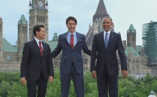 Things got odd in Ottawa when the leaders of Canada, Mexico, and the US tried to shake hands https://t.co/dsJ19TD7pA https://t.co/d4fipuQHka