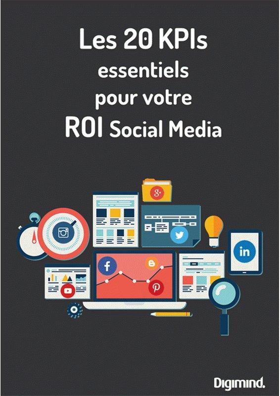 NEW ! [Livre blanc] 20 KPIs essentiels pour votre ROI Social Media #marketing https://t.co/j8aMPitwv0 https://t.co/9WFwVNsNUW