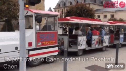 Игроки в Pokemon Go арендовали туристический поезд, чтобы искать покемонов во Франции